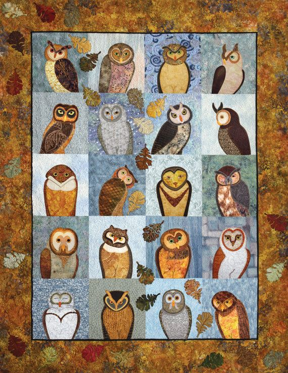 Outstanding Owls Applique Quilting Book by AshtonPublications ... : owl applique quilt pattern - Adamdwight.com