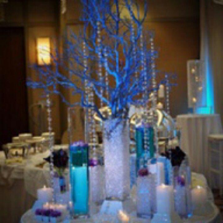 prom table decorations prom ideas blue wedding flowers prom rh pinterest com