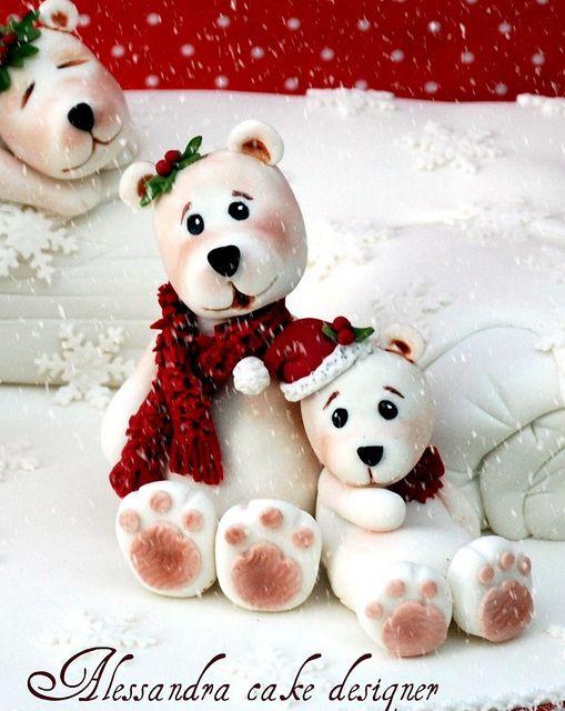 Welded Christmas with polar bears