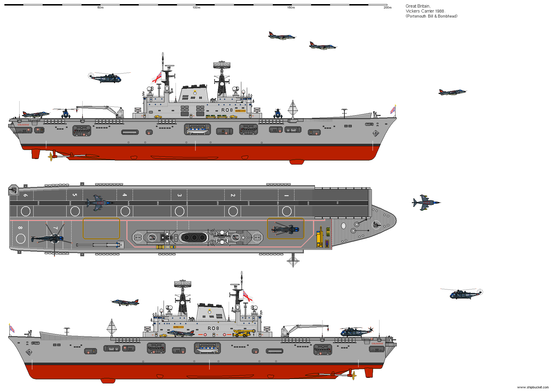 Shipbucket - Never Built Designs/Great Britain/CVS Vickers Light Fleet  Carrier Proposal.