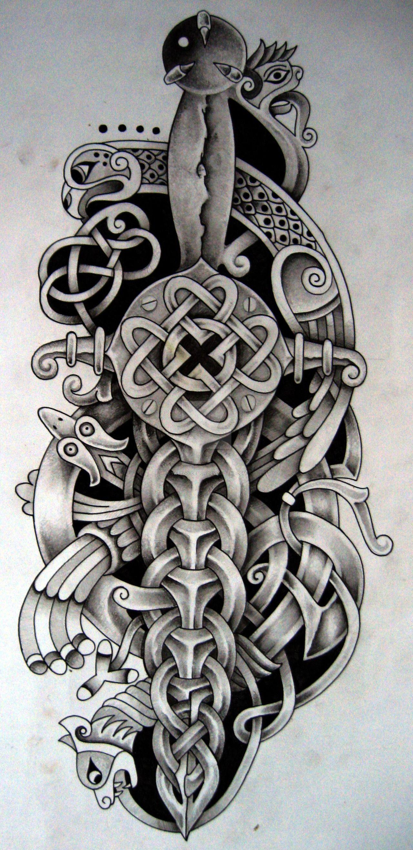 Celtic dagger and bird by tattoo designiantart on celtic dagger and bird by tattoo designiantart on deviantart anglo saxon buycottarizona Images