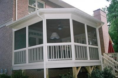 Screen Porches And Sunrooms Screened Porch On Brick With