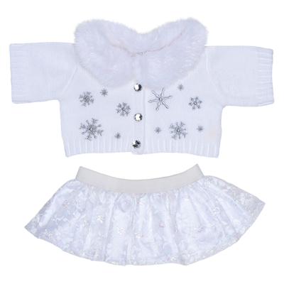 """NEW to fit 8"""" build a bear//Teddy mountain White heart dress"""