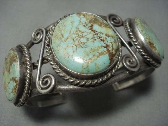 Photo of Opulent Vintage Navajo Royston Turquoise Sterling Silver Bracelet