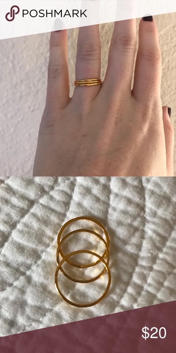 Gorjana ring set (3 rings) - size 7 Set of 3 g rings from gorjana Gorjana Jewelry Rings