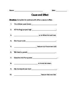 Cause and Effect | Social Studies | Cause, effect, Social studies