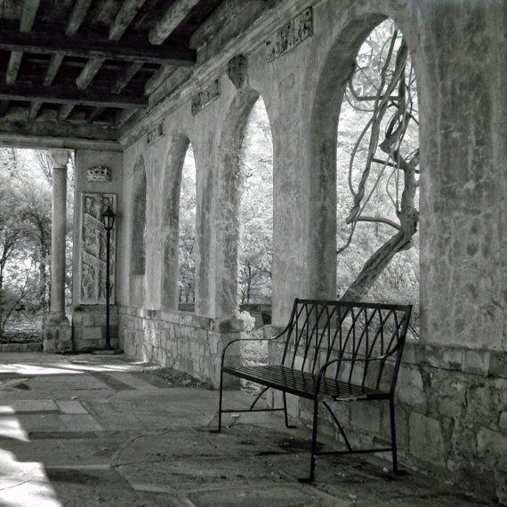 noir et blanc architecture glycines Pierre banc infrarouge - banc en pierre pour jardin