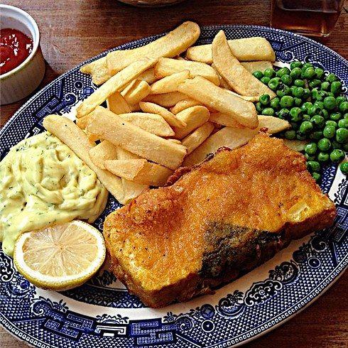 The Coach Horses Vegan Fish And Chips Eat Vegan London