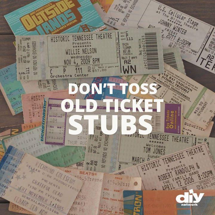diy ticket stub art