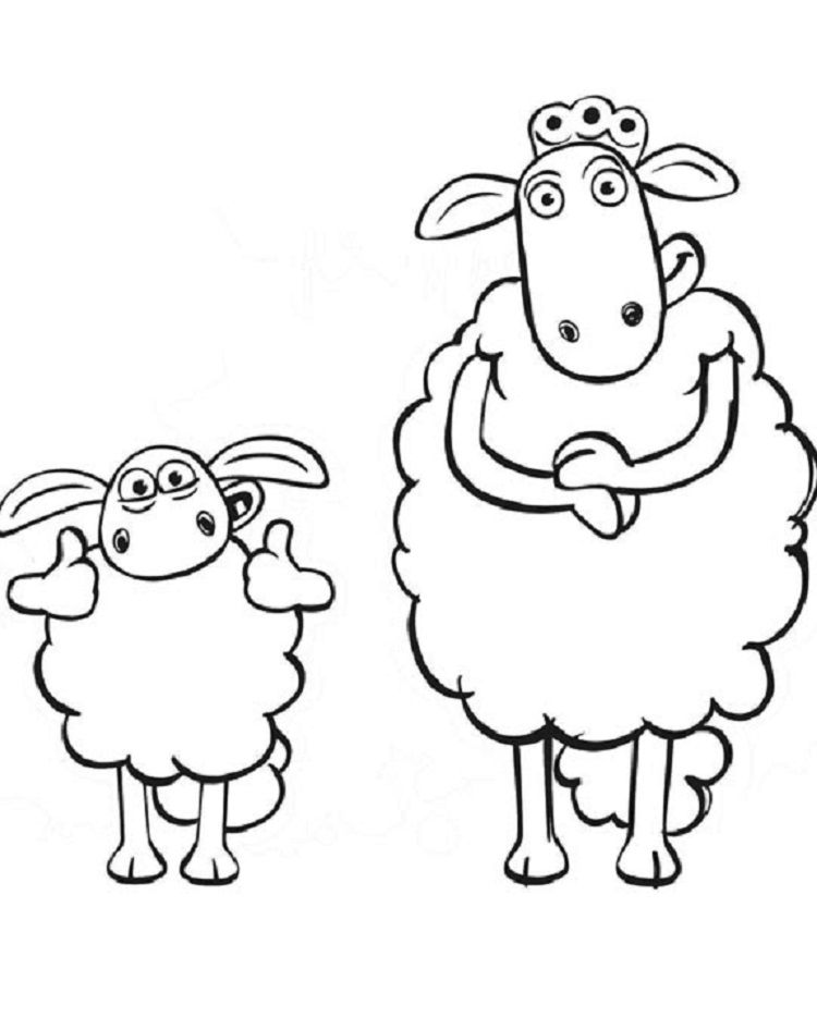 Shaun The Sheep Coloring Pages Printable Sevimli Fikirler Cizim