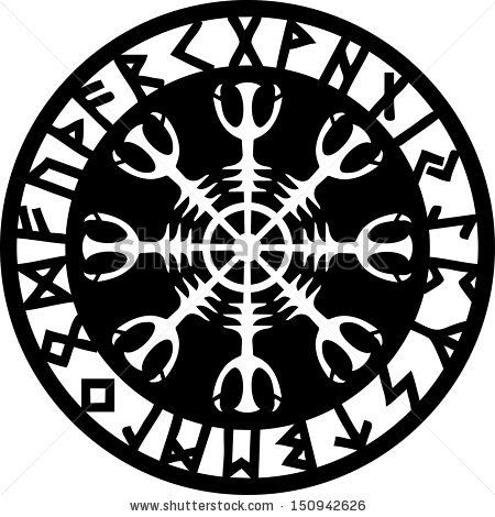 Helm of awe aegishjalmur runic amulet tattoo for Helm design