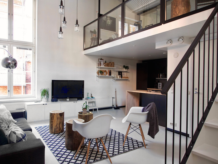 Una vivienda de doble altura m s ideas sobre dobles - Salon doble altura ...