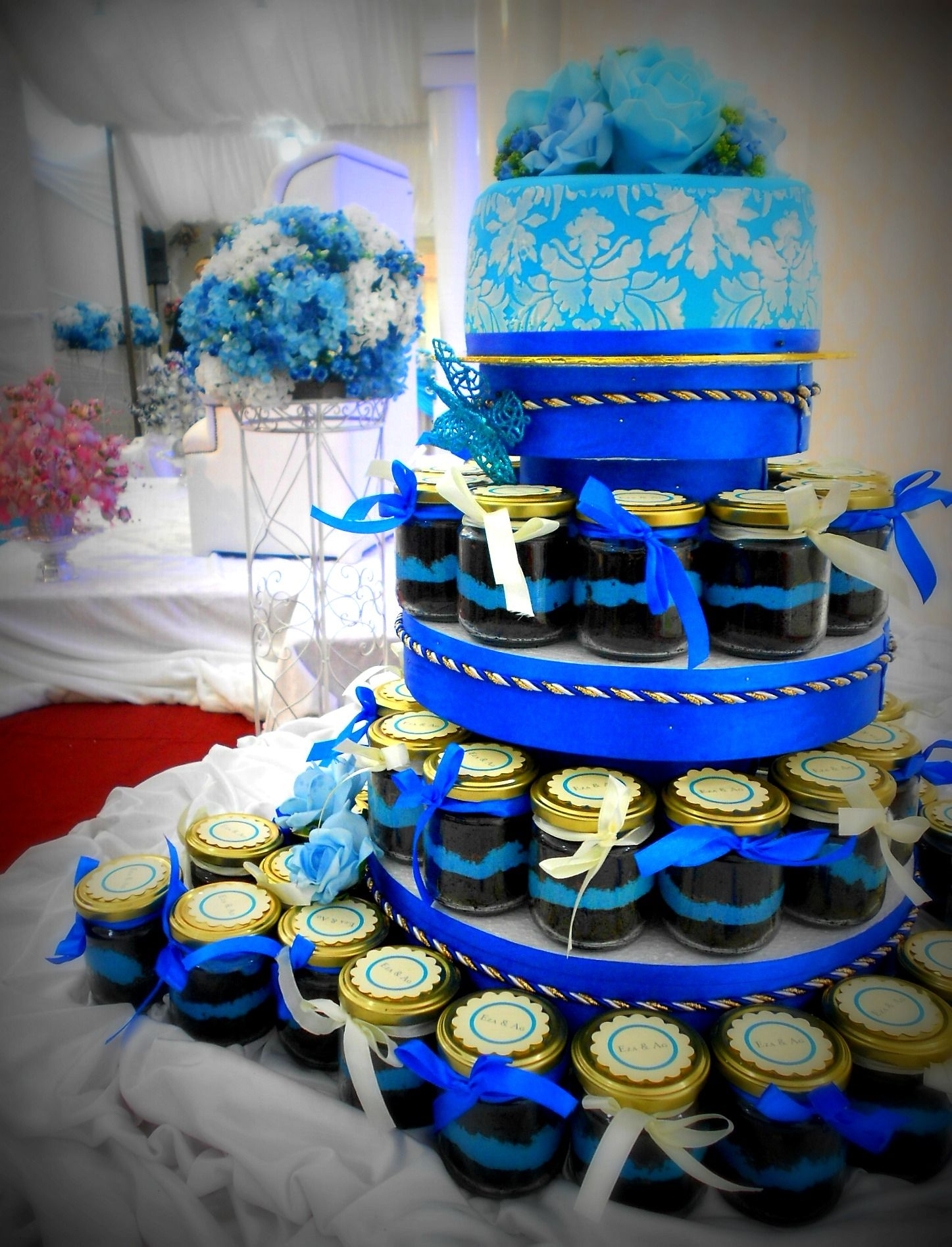 Cake in a jar for a wedding google search when do we cut the