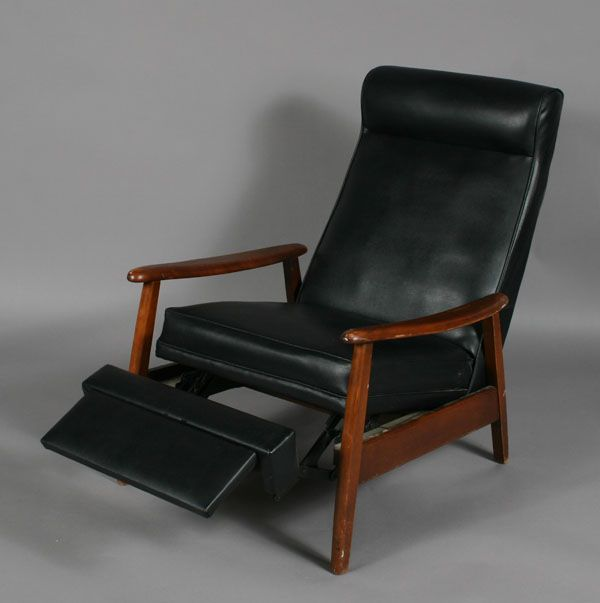 Contemporary Recliner | Danish Modern Open Arm Recliner with Foot Rest : modern style recliner chairs - islam-shia.org