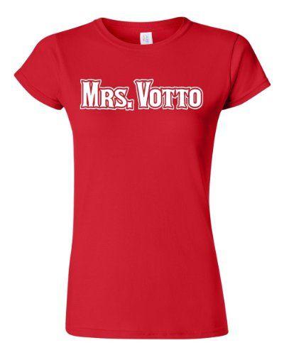 Womens Mrs. Votto Cincinnati Junior T-Shirt Tee (X-Large Red) ...