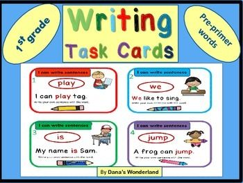 Do you have students who are weak in writing or who just need to practice writing more?If so,these cards  can help.Modeling is essential in helping the kids develop good writing skills and that's why the cards provide a writing sample before asking the kids to write.