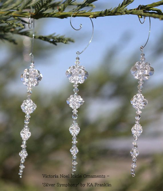 Beaded Icicle Ornament Kit Diy Silver By Rustifistication On Etsy