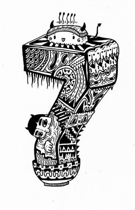 Numbers For Con Artist By Anjo Bolarda Via Behance Artist Character Illustration Art Design