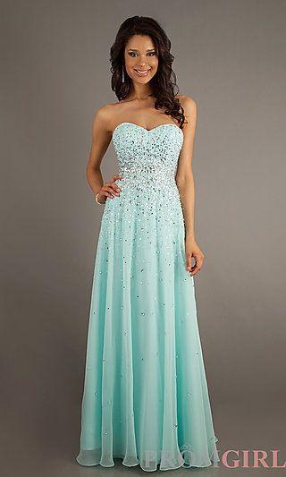 Chic Chiffon Sweetheart Neckline Floor-length A-line Prom Dress. Blue 58e9756df