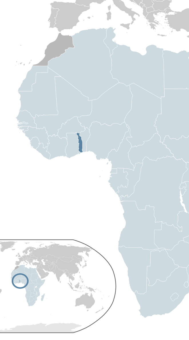 Togo location in africa map togo pinterest africa map africa togo location in africa map gumiabroncs Image collections