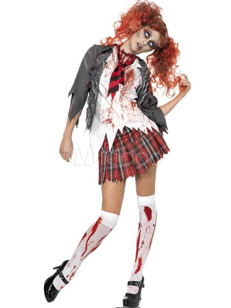 Halloween Zombie School Girl Costume Cosplay Halloween Zombie School Girl School Girl Costume Halloween Zombie Schoolgirl Costume