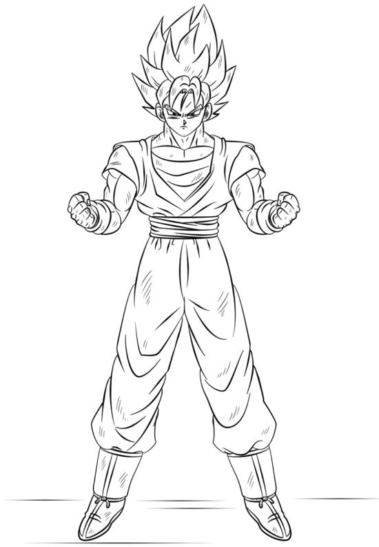 Dibujos Para Colorear Faciles De Dibujar Y Pintar Imagenes Totales Dibujo De Goku Como Dibujar A Goku Dibujos Para Colorear Faciles