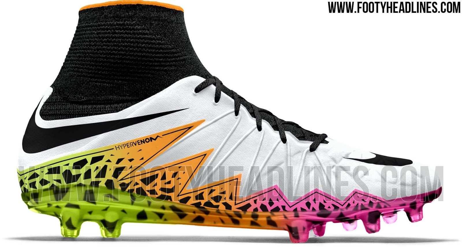 The Nike Hypervenom Phantom 2016 Multicolor Cleats introduce a spectacular  design. Set to be released