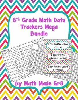 8th Grade Math Sbg Or Mastery Grading Data Tracker Mega Bundle