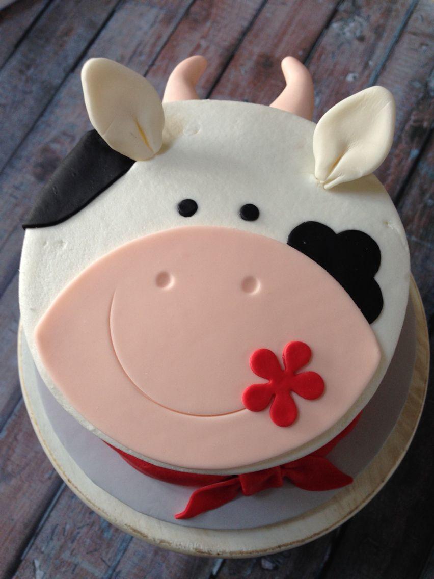cow birthday cake