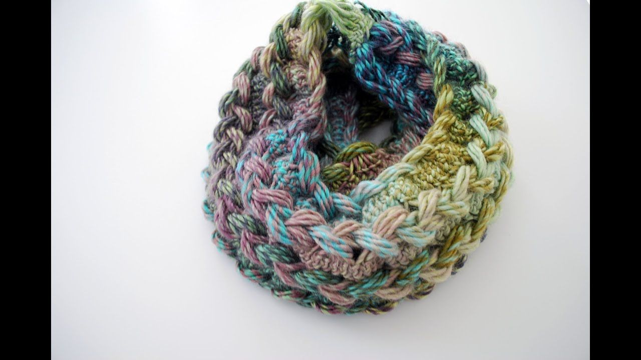 How to Crochet a Hairpin Lace Infinity Scarf YouTube