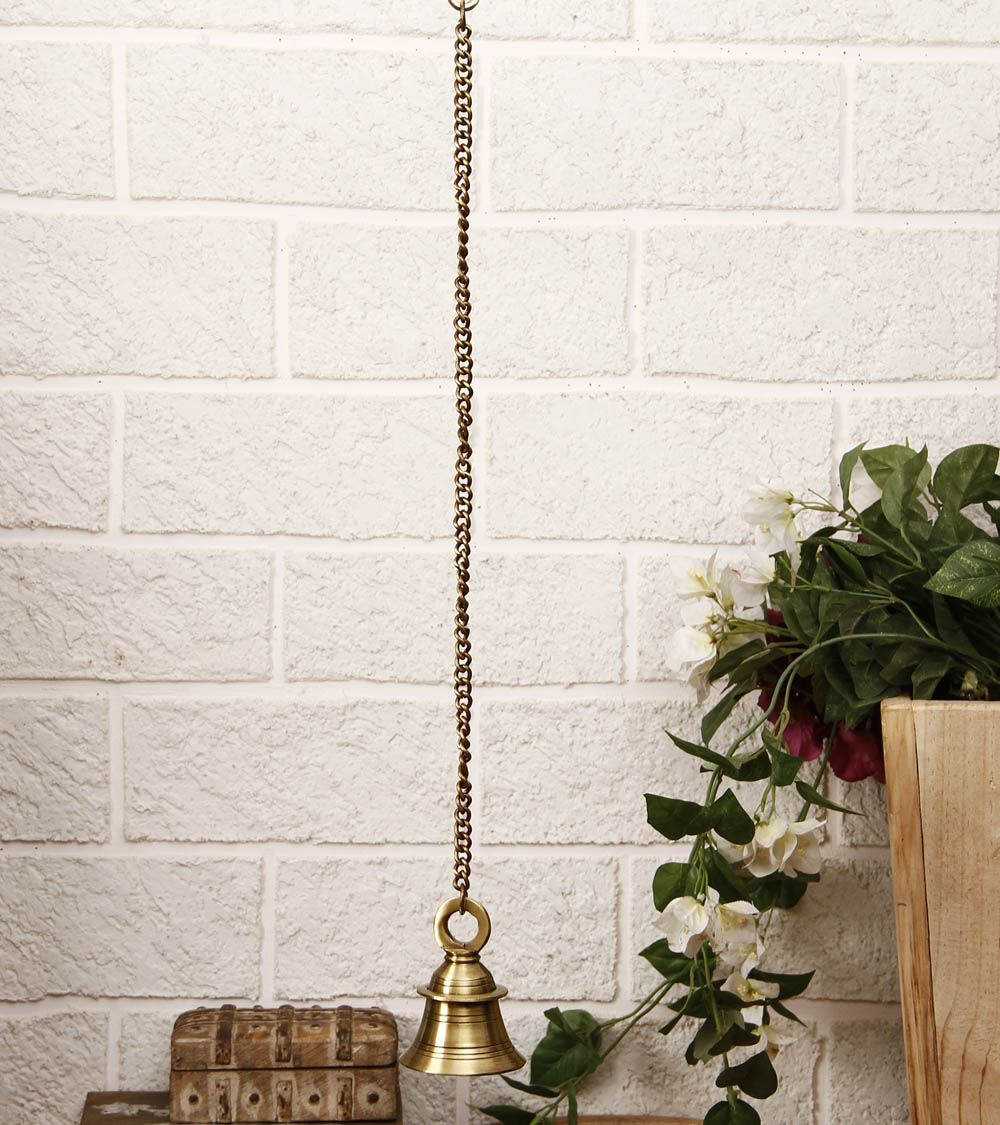 Brass Hanging Bell With Chain Indian Ethnic Home Decor Pinterest Decorative Accessories