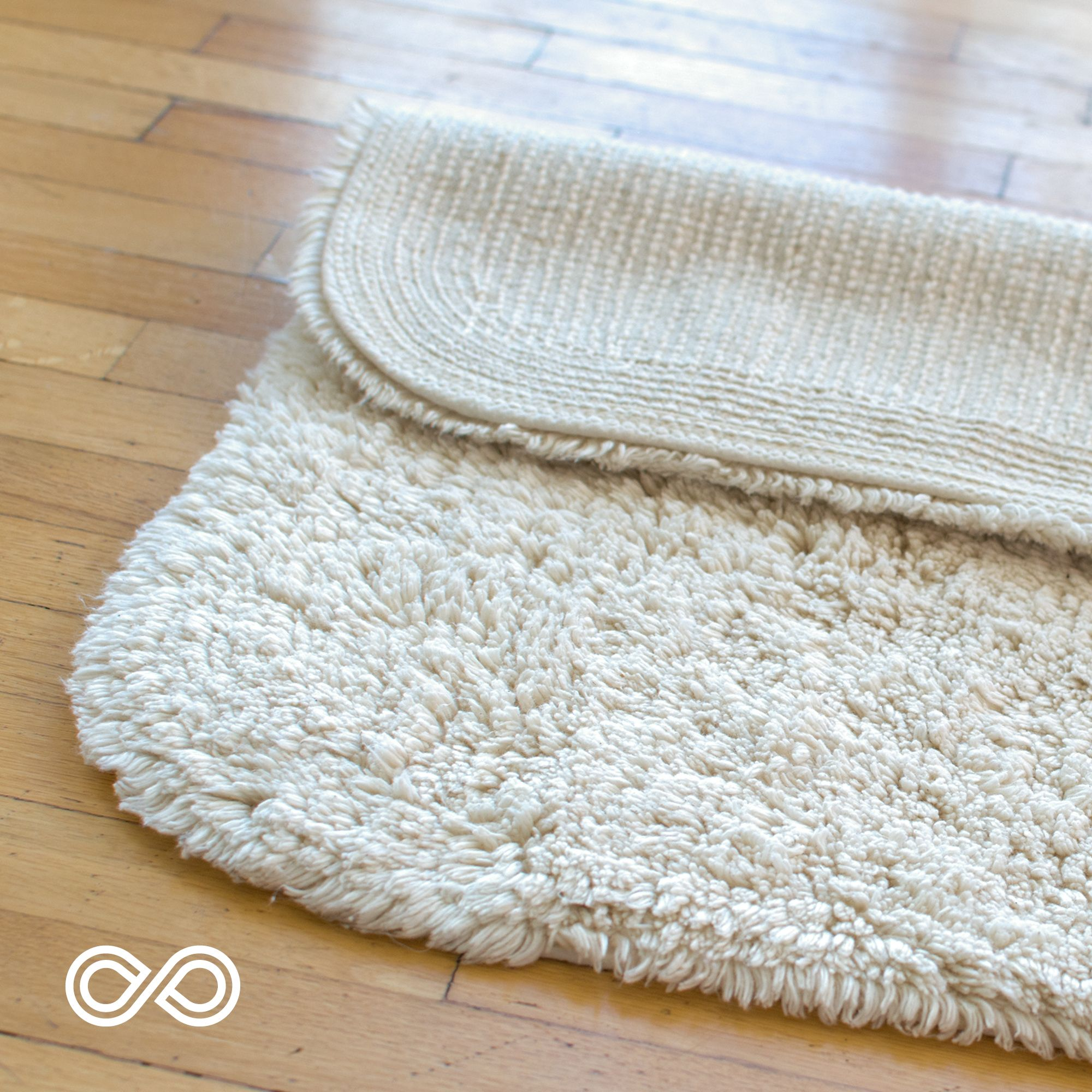 Organic Cotton Deep Pile Bathmat Rug By