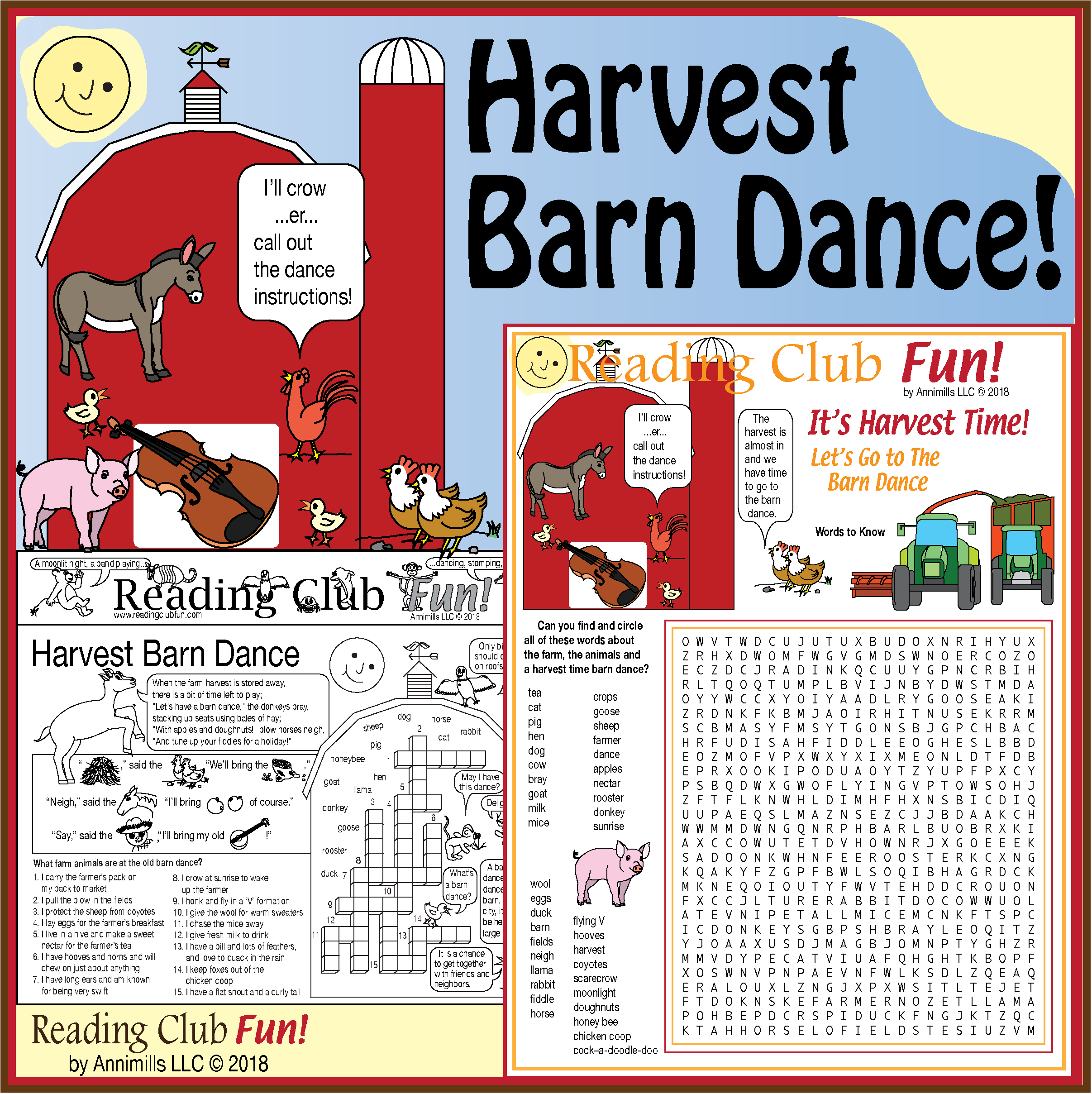 Harvest Barn Dance Puzzle Set