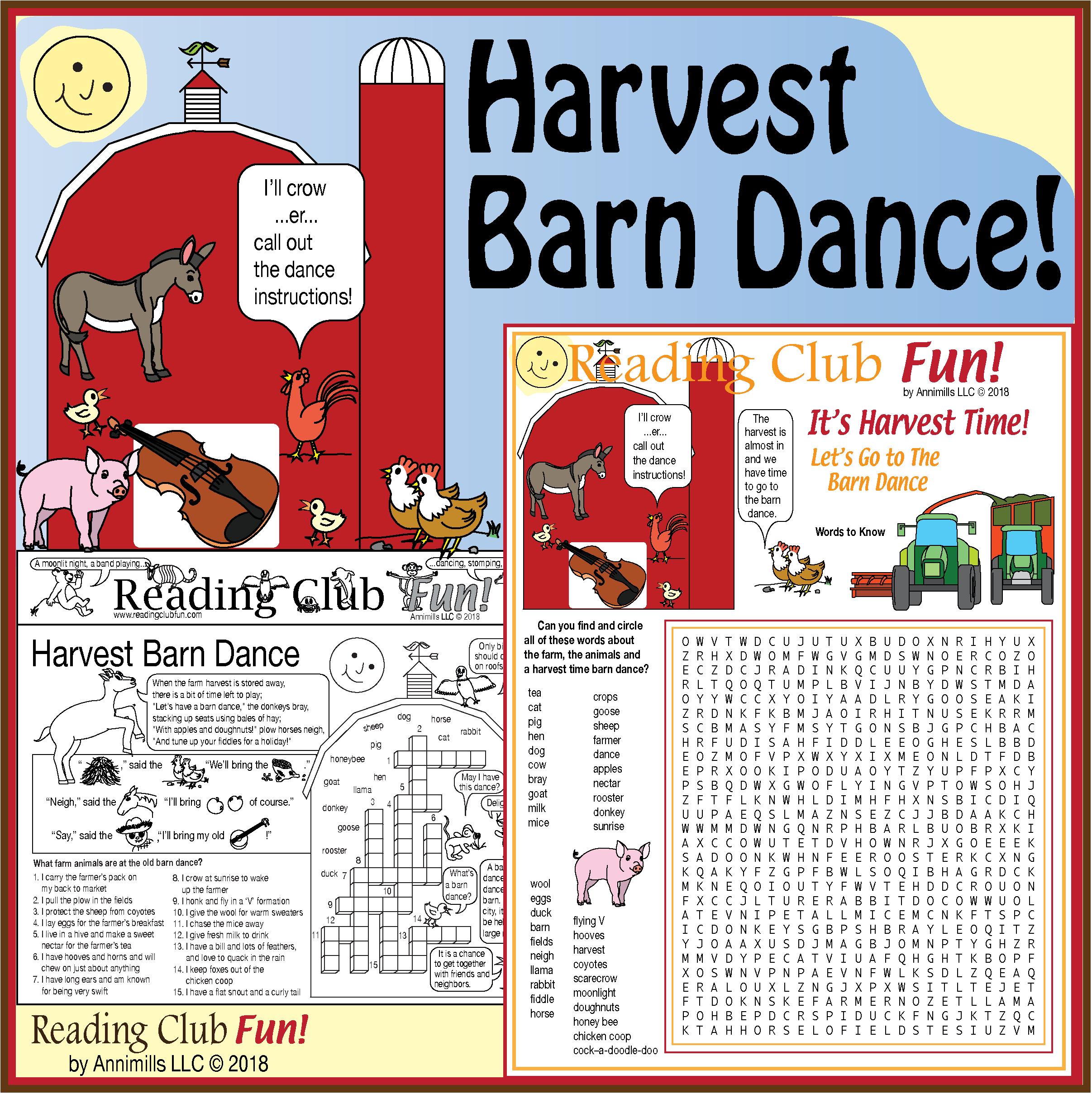 Harvest Barn Dance Puzzle Set