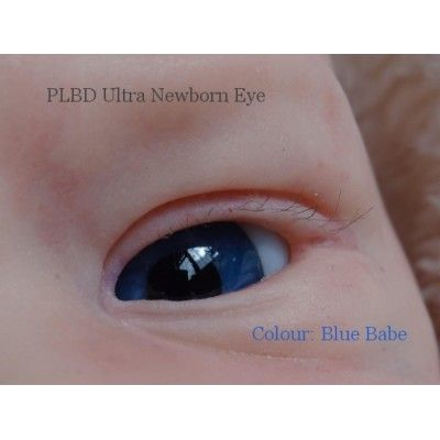 Ultra Newborn Glass Eyes - Blue Babe