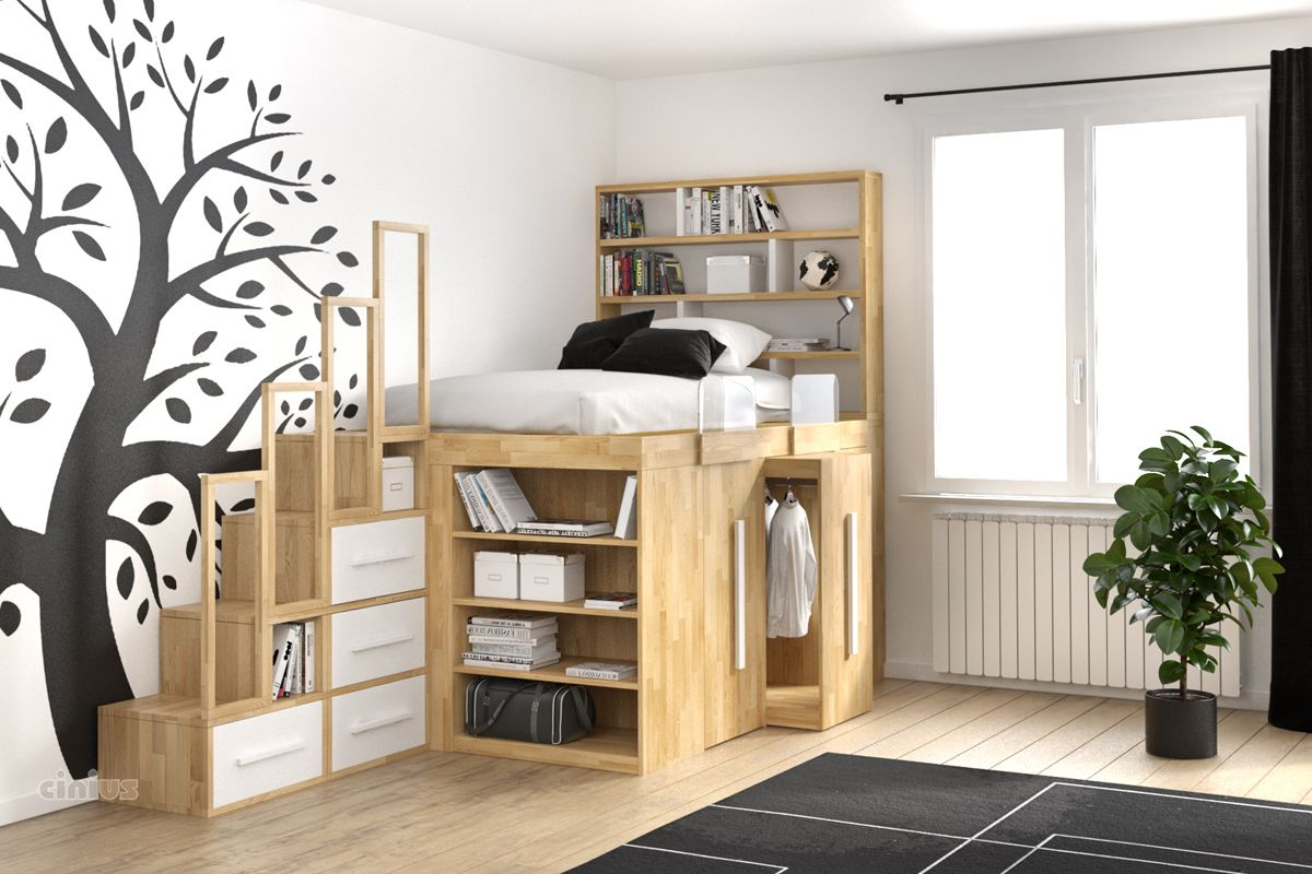 wenig platz kleines zimmer kleine wohnung viel stauraum gef llig entdecken sie ihr traumhaus. Black Bedroom Furniture Sets. Home Design Ideas