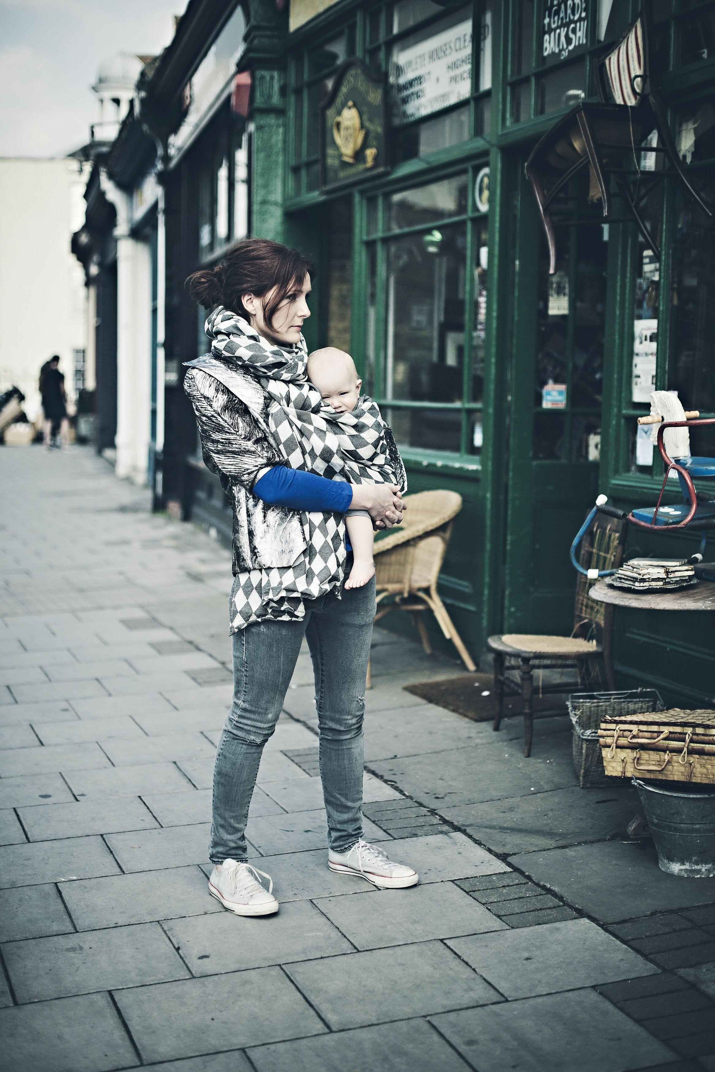 Poe Wovens, Harlequin Chic #London #Babywearing