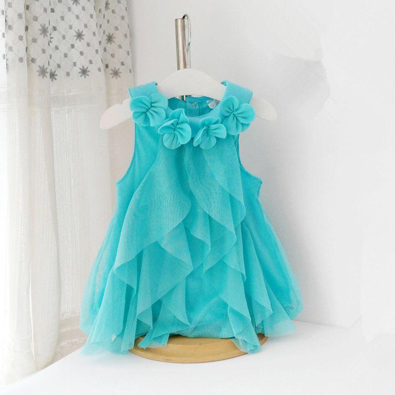 5067f555b41e 2018 Summer Girls Dress Toddler Girl Chiffon Birthday Party Dress ...