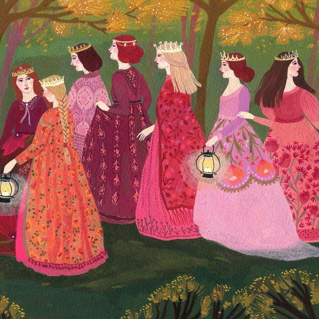 The 12 Dancing Princesses Print Is Back For A Limited Time In My Etsy Shop Link In Bio In 2020 12 Dancing Princesses Etsy Shop My Etsy Shop