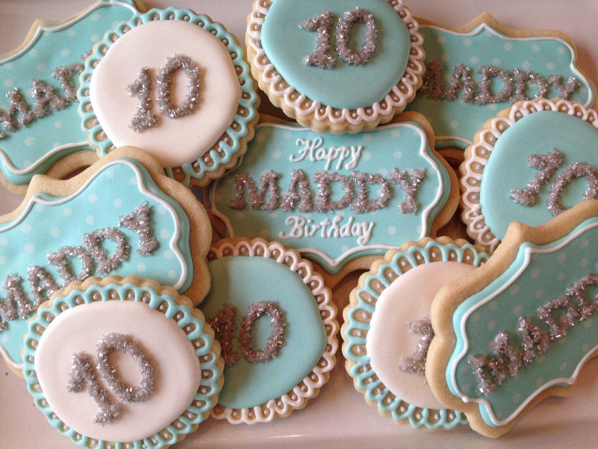 10th birthday sugar cookies birthday cookies cookie