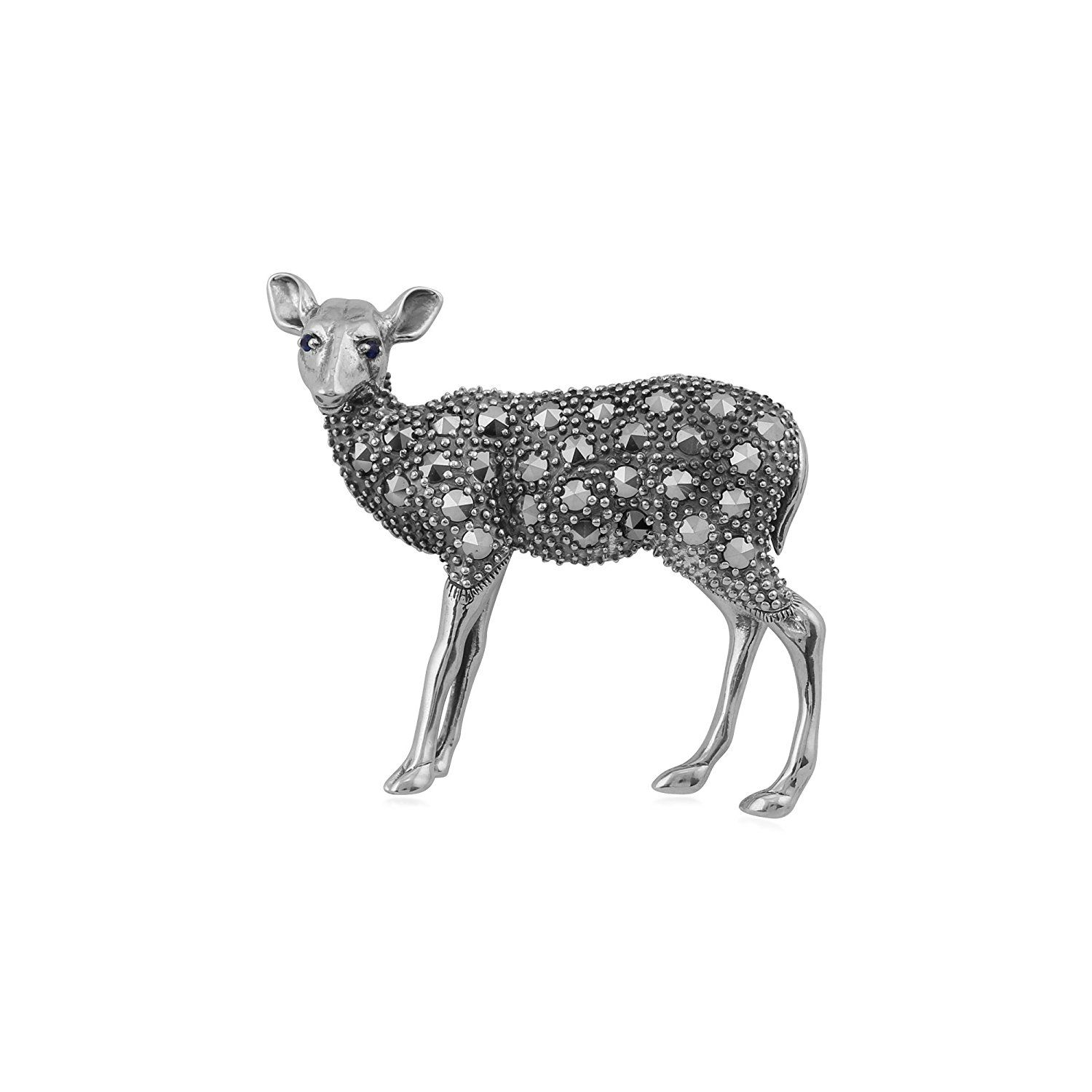solid or for by htm bellamy george silver leaping designed geoffrey jewellery brooch brooches tarratt gazelles gazelle deer