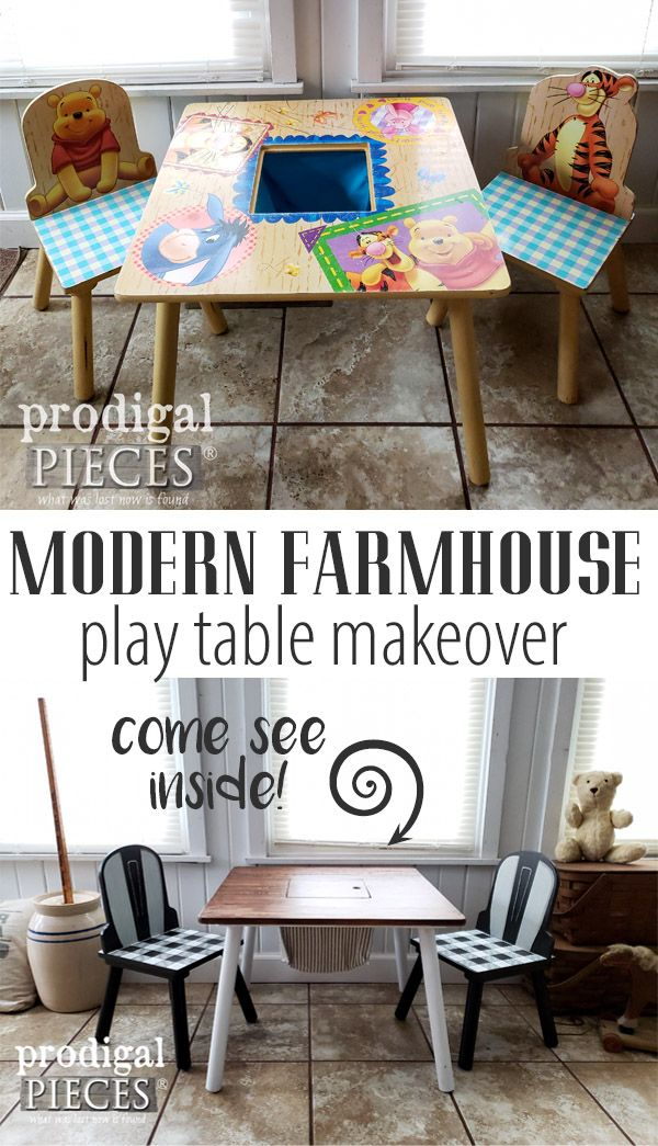 Enjoyable Kids Play Table Made Modern Farmhouse My Pieces Projects Andrewgaddart Wooden Chair Designs For Living Room Andrewgaddartcom