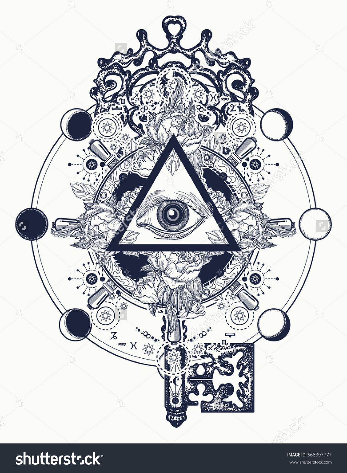 masonic eye and key tattoo symbols freemason and spiritual symbols