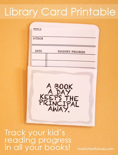 Library Cards Track Your KidS Reading Progress Free Printable
