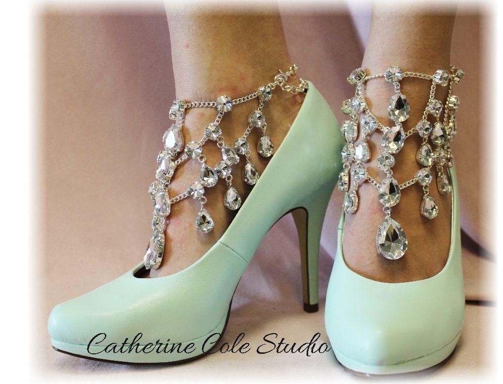 fd84056753109 Chandelier Shoe Jewels 1 pr.Amazing New look to | Fashion | Foot ...