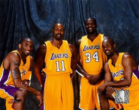 Kobe Bryant, Karl Malone, Shaquille O'Neal and Gary Payton. Equipo ...