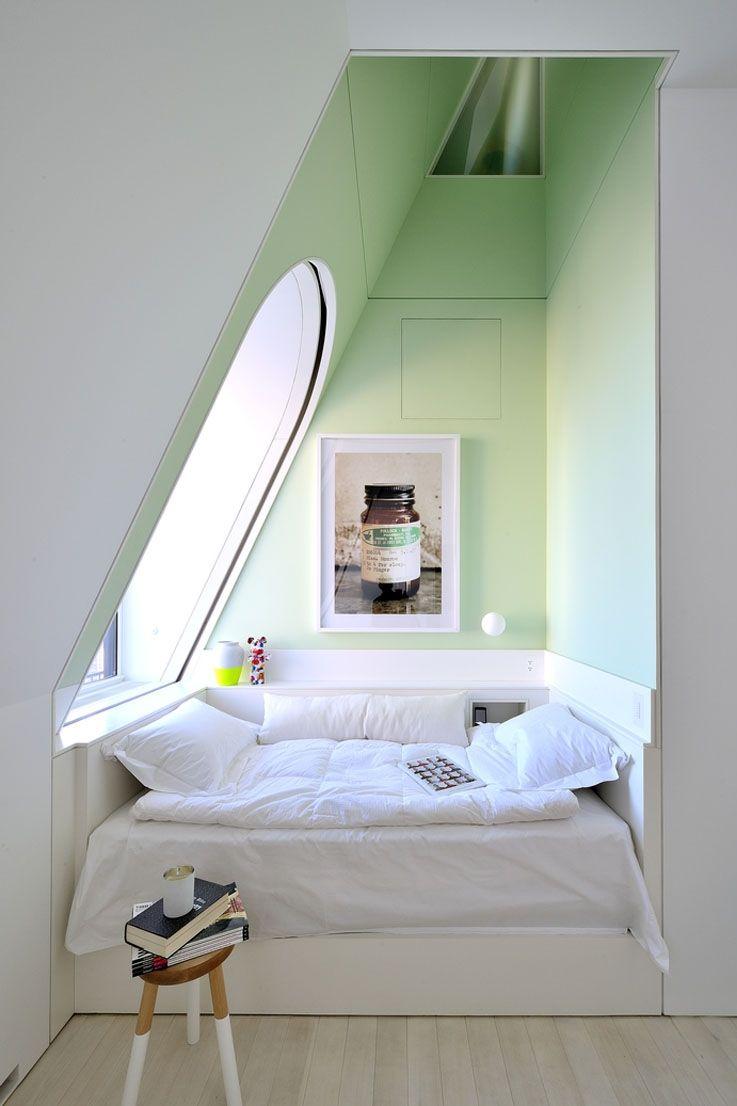 Bett In Dachschräge bett unter dachschräge living wohnen dachschräge