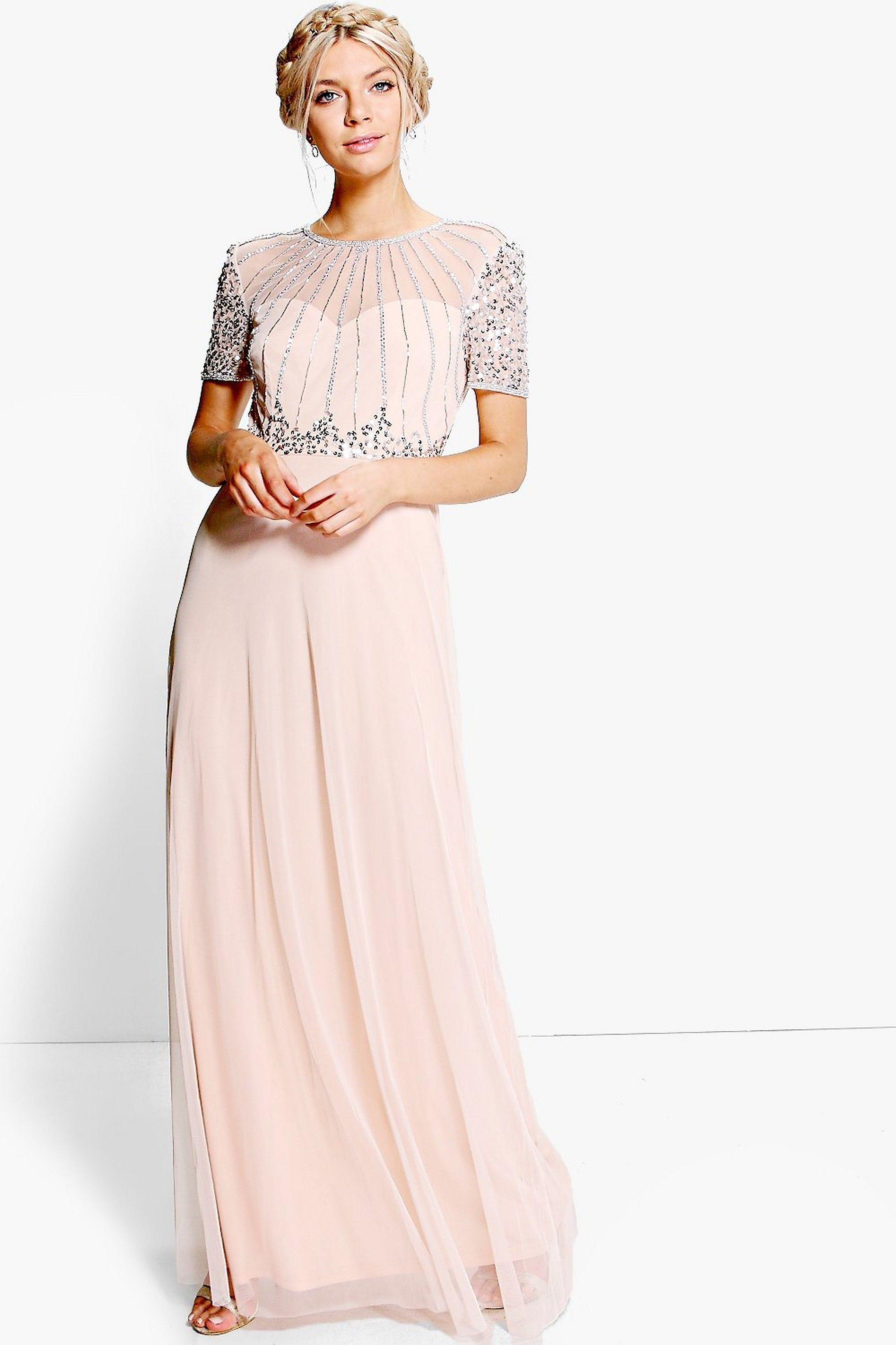 Boutique Beaded Maxi Bridesmaid Dress Boohoo Uk Beaded Maxi Dress Maxi Bridesmaid Dresses Maxi Dress