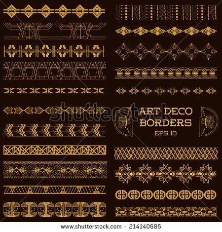 art deco border template vector illustration invitations - best of invitation card vector art
