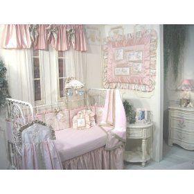 Jessica Mcclintock 5 Piece Crib Set Rose And Cream Crib